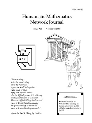 1998 Humanistic Mathematics cover