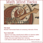 Math mind hacks: spaced repetition