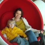 Egg chair at Hunt Library