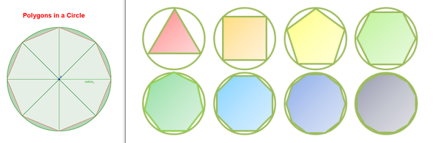 Polygons in a circle