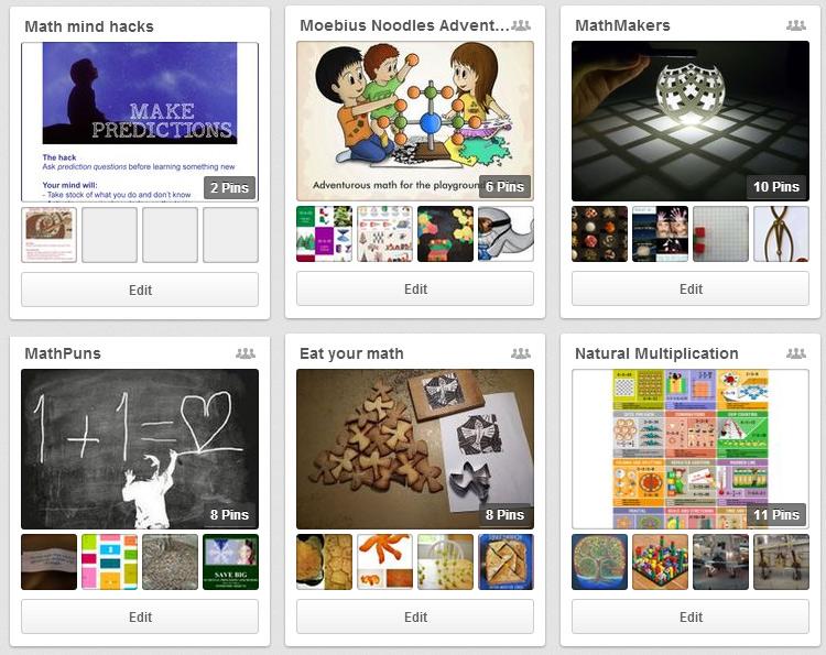Natural Math Pinterest Board