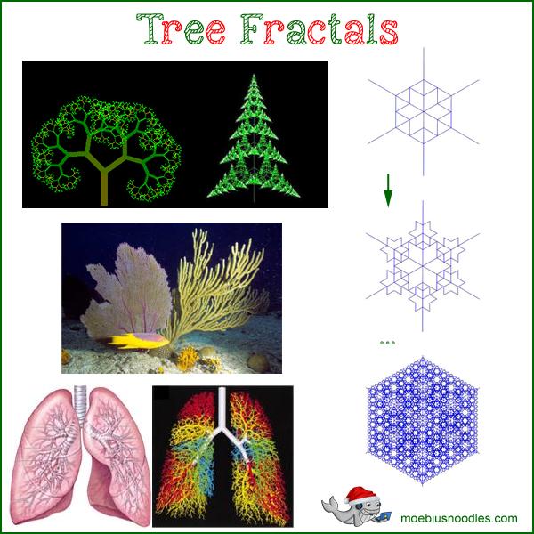Tree Fractals Snowflakes