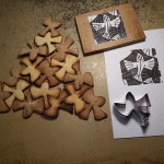 Escher bird cookies