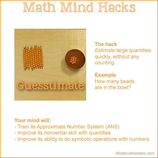 Montessori Guesstimate Mind Hack