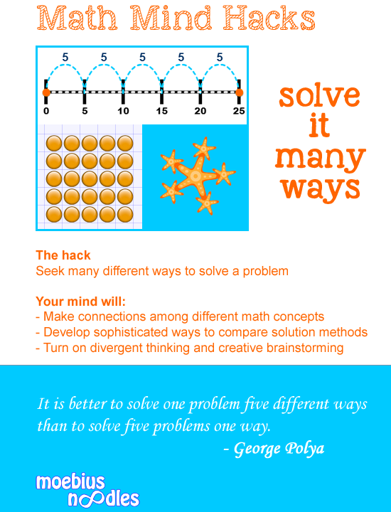 Different ways to solve math problems